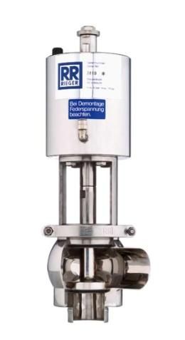 Válvulas de assento RIEGER higiênicas individuais são usadas quando é necessário o máximo de produtividade, segurança e qualidade. Podendo ser usadas em Fábricas de laticínios, químicas, farmacêuticas, biotecnológicas e alimentícias. O programa de válvula progressiva já mil vezes comprovado por aplicações diárias, permite a alta flexibilidade dentro da série de produção individual. Por isso as válvulas Higiênicas Rieger garantem a solução perfeita para nossos clientes.